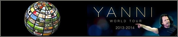 Yanni Tour Banner 2014