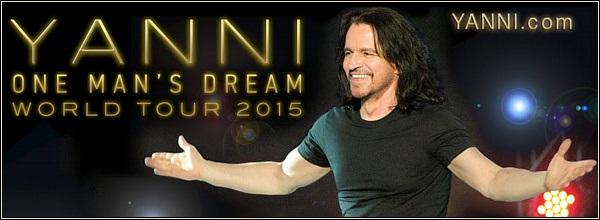 Yanni 2015 Promotion Banner